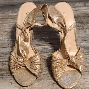 Gold Nine West fancy heels